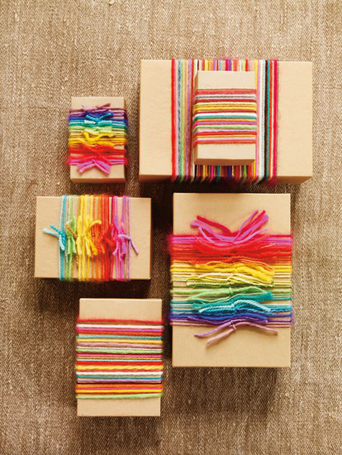 Rainbow gift wrapping
